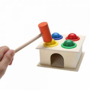 Jogo-Toupeira De Madeira Colorido Para Crianças 1