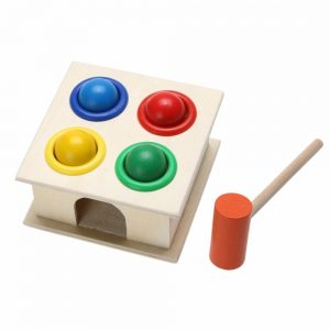 Jogo-Toupeira De Madeira Colorido Para Crianças