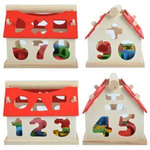 Casa de Madeira Multicolorido Educacional Formas e Números 5
